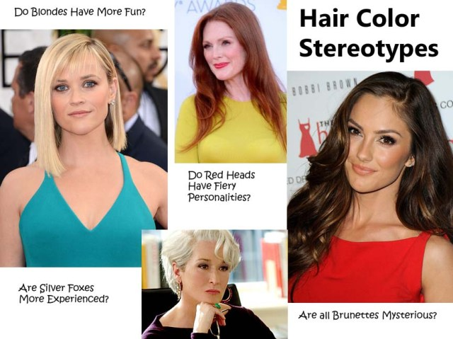Top Celebs showing what colors look best with their locks! Photos from Top Left: Reese Witherspoon courtesy of laineygossip.com Julianne Moore courtesy of IMDB Minka Kelly courtesy of justjared.com Meryl Streep courtesy of coolspotters.com