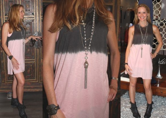 LA CA USA - ombre - dress-ingrid ysla necklace