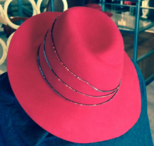felt hat, red hat, shop atlanta
