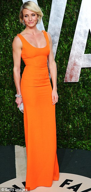 California Style, Cameron Diaz, Orange Victoria Beckham Dress