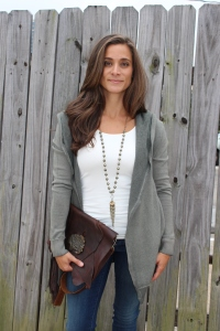 old clutch, dylan hoodie, skinny tank, range boutique